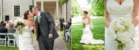 Verde & branco simplesmente lindo neste casamento